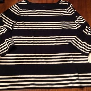 TALBOTS Soft COTTON NWT Shirt Top XL Black White